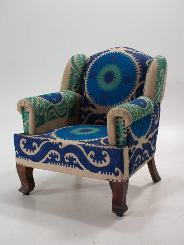 Indyjski fotel w stylu boho