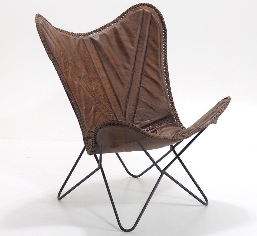 Indyjskie skórzane krzesło/ fotel