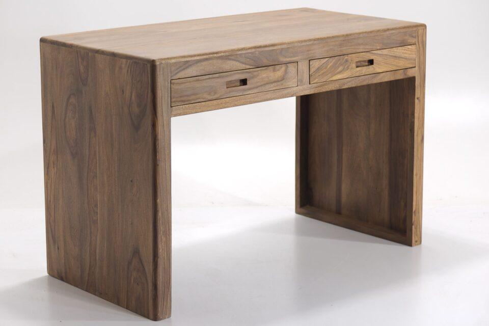 Drewniane biurko kolonialne z palisandru