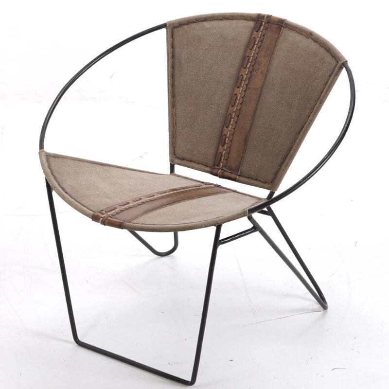 Okrągły fotel loftowy