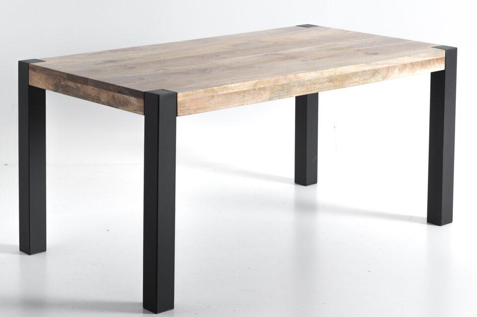 Stół industrialny z mango