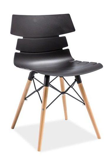 Loftowe krzesło ferro czarny