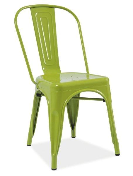 Zielone jasne krzesło do loftu