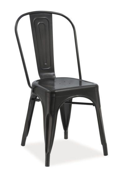 Czarne krzesło do loftu