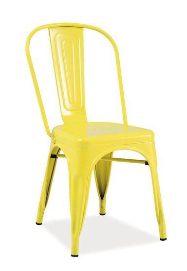Żółte krzesło do loftu