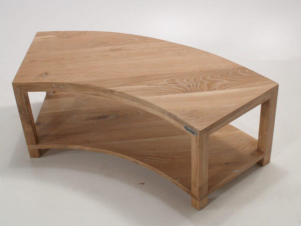 Dębowa ławka półokrągła
