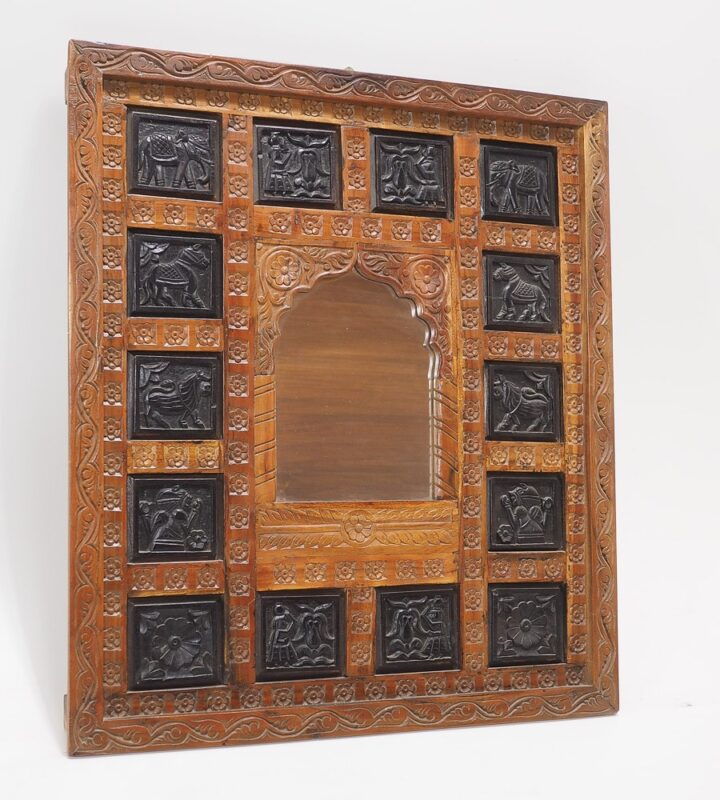 Lustro w indyjskie wzory