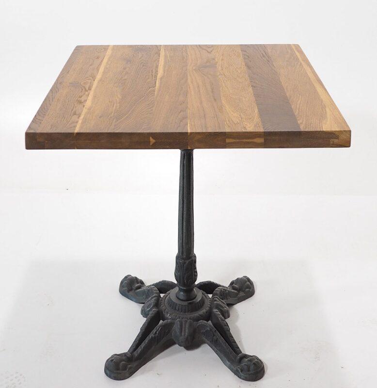 Stół dębowy na żeliwnej nodze