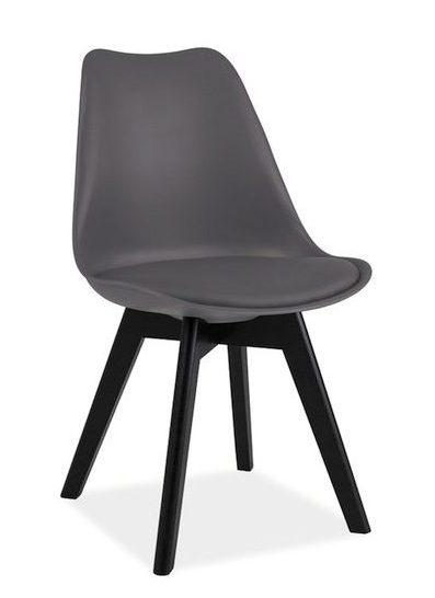 Krzesło Kris ciemno szare z czarnymi nogami