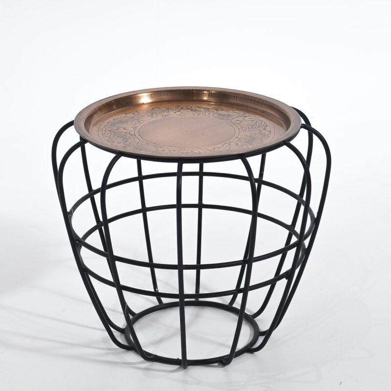 Stolik kawowy na stalowych nogach