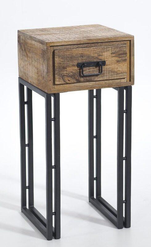Industrialna szafka nocna na stalowych nogach z szufladą