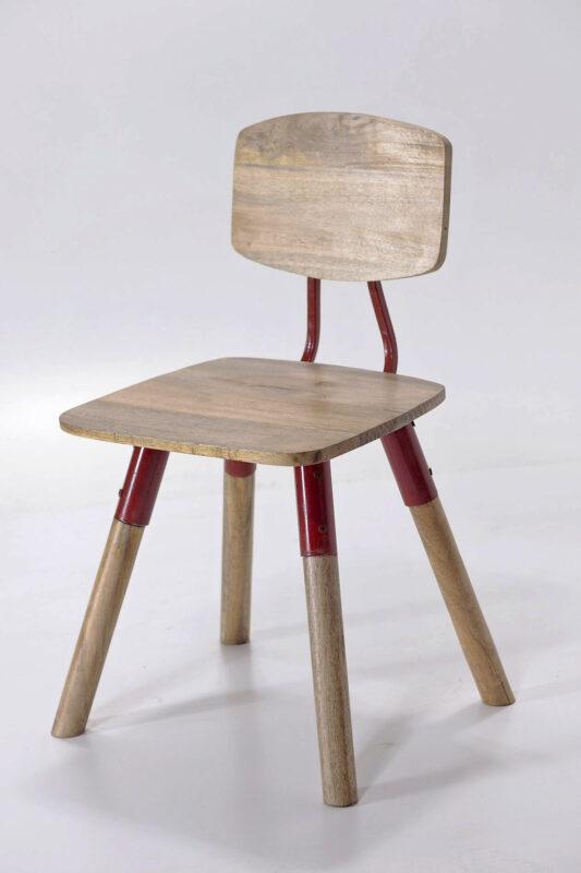 Krzesło industrialne z drewna mango