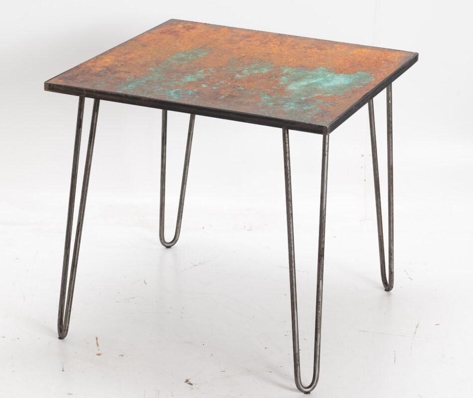 Stół z blatem corten